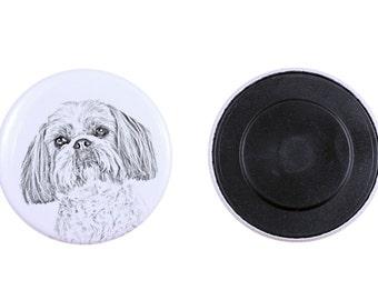 Magnet with a dog - Shih Tzu