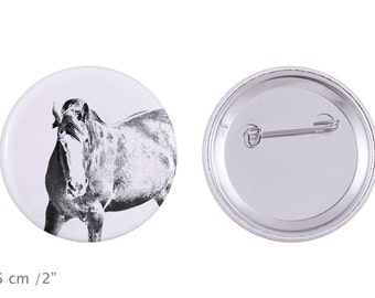 Buttons with a horse -Clydesdale
