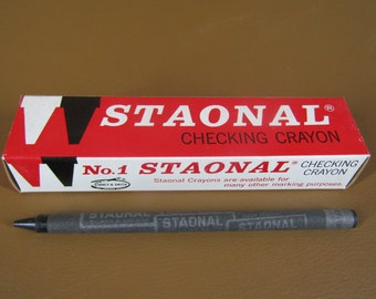 NOS No. 1 Staonal Checking Crayon box of 12 in black