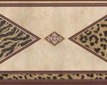 Tiger Leopard Print  FF22029B Wallpaper Border