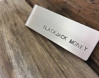 "Money Clip: ""BLACKJACK MONEY"""