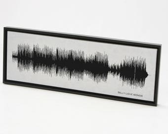 Silly Love Songs : Sound Wave Art Print created from the entire song.