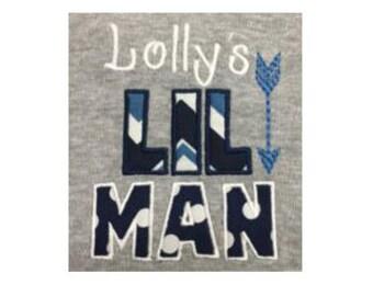 LIL MAN applique,Little man applique,Boys applique,Father's day design,Father's day. - 06