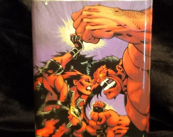 Red Hulk and Red She-Hulk going at it 8 oz stainless steel flask