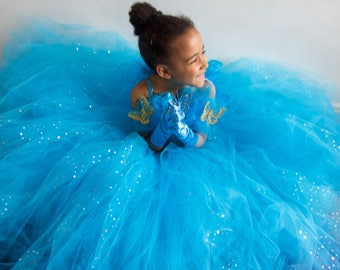 Cinderella Toddler Inspired Sequin Sparkle Tulle Dress, Sample  Age 3 (DISPATCH TODAY)