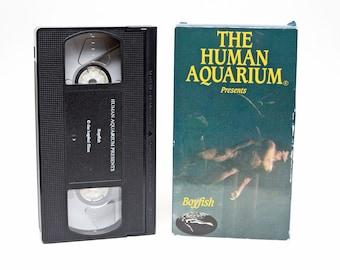 Mature The Human Aquarium Boyfish VHS Tape Nude Naked Man and Women Swimming in Water - RARE