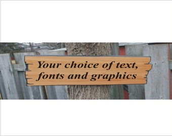 Custom Wooden Sign, wood cabin sign, wooden carved sign, beach house sign, wood sign  with your choice of graphics & fonts
