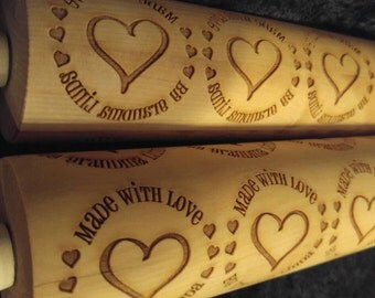 Made with love by...Personalized Rolling Pin