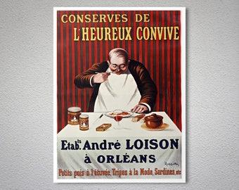 Conserves de  L'Heurex Convive Vintage Food&Drink Poster - Poster,  Sticker or Canvas Print