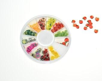 Fruit Slice Nail Art Tips UV Gel Decoration