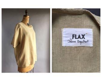Flax Linen Boxy T-Shirt