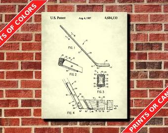 Ice Hockey Patent Print, Ice Hockey Stick Blueprint, Ice Hockey Stick Poster, Ice Hockey Decor, Sports Poster, Man Cave Wall Art, Ice Hockey