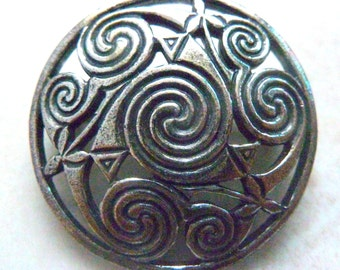 Vintage Celtic Spiral Brooch By Miracle.