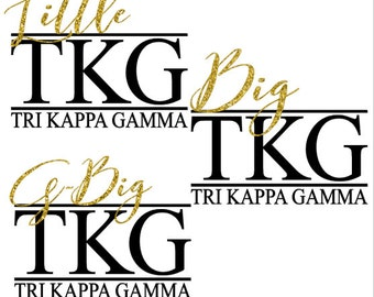 Sorority Iron on - Big little g-Big Iron on Decal - Soul Sisters - College Life - Personalized Iron On Decal - Free Shipping