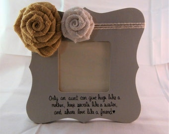 mothers day gift for aunt gift, only an aunt frames with quotes, auntie tia present