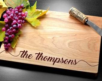 Personalized Engraved Cutting Board, Wedding Gift, Bamboo Cutting Board, Housewarming gift, Birthday gift, Corporate Gift, Promotion Gift