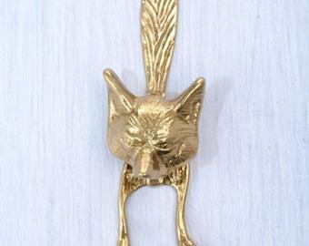 Fox doorknocker, brass door knocker, door knocker, knocker, front door decor, outdoor decor