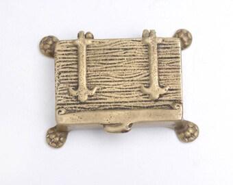 Pirate box, pirate chest, valet box, snuff box, pillbox, miniature box, box desk decor, treasury chest, ring box, decorative small box