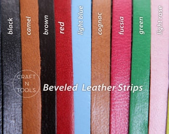 Beveled Strip 4.0mm/Buck Stitching Lace/Natural Leather/Licorice Cord/Regaliz Leather/Cuff Cord/Leather Cording
