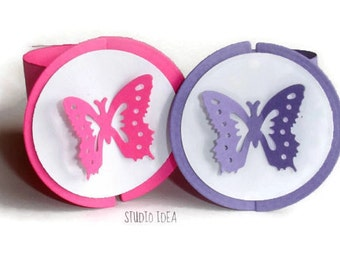 Mixed Fuchsia & Purple Monarch Butterfly Napkin Rings-Set of 12 pcs - or CHOOSE YOUR COLORS