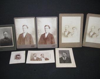 Vintage Photograph Lot, Black And White Photos, Portraits, Cardboard Framed, Illinois, Photographs, Vintage Paper, Vintage Photos,