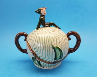 Rare Vintage Jack and the Beanstalk Sugar Bowl by L. Batlin and Son