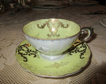 YELLOW TEACUP and SAUCER Set
