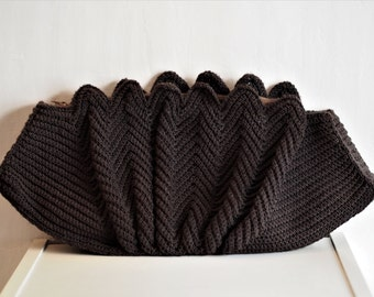 SALE - Incredible 1940s Brown Woven Clutch Bag