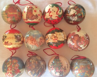 Vintage Victorian Christmas Ornaments