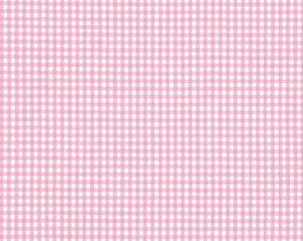 Pink Gingham Fabric 100% Cotton Pink Nursery Cotton