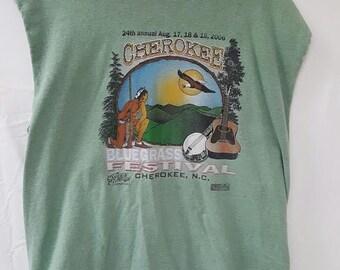 Cherokee Bluegrass Festival Cut Off Sleeves XL