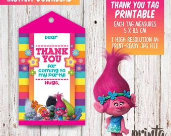 Trolls Birthday Invitations - Premium Invitation Template Design by 2 Feathers Tipi
