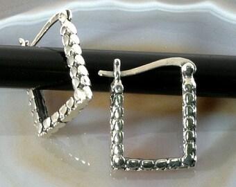 Hoops 925 sterling silver   --  4705