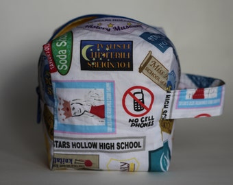 Signs of Stars Hollow Knitting & Crochet Project/Toiletry Sock Cube Bag