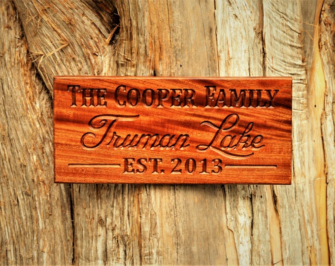 Personalized Wood Sign Custom Carved Last Name Sign Wood Plaque Personalized Fathers Gift Wedding Gift Last Name Established Sign Custom