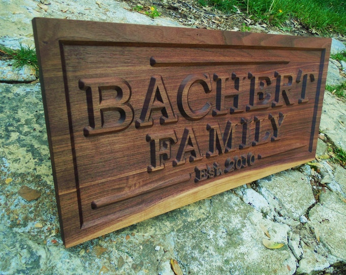 Custom FAMILY Farm Ranch Carved Wood Sign Ranch Sign Custom Wood Name Sign Personalized Family Name Sign Last Name Sign Custom Family Farm