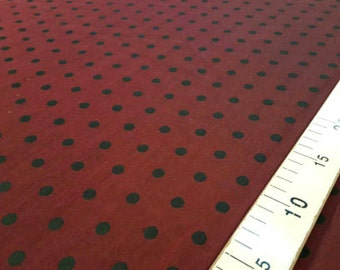 Red and black dots taffeta fabric #A/39