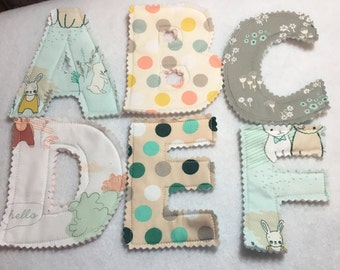 Fabric Alphabet Letter Set, Fabric For Play or Decoration