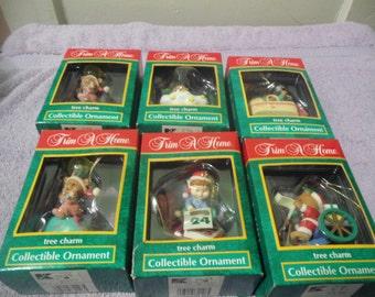 1993 Trim A Tree Christmas Ornaments (6 Boxes)