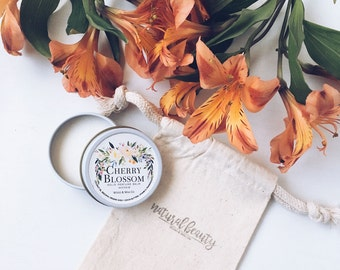CHERRY BLOSSOM Solid Perfume   Natural Perfume Balm