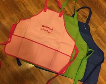 2643 embroidered children's apron, embroidered kids apron, embroidered child's apron, boys apron, girls apron, preschool apron....