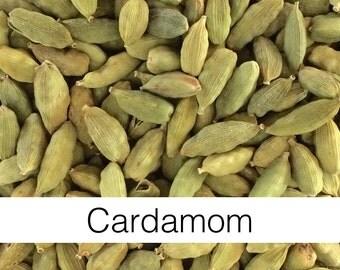Cardamom Pods, Whole (Elettaria cardamomum) - Organic