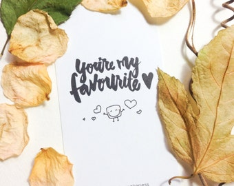 You're My Favourite Encouraging Mini Bookmark (Pack of 10)