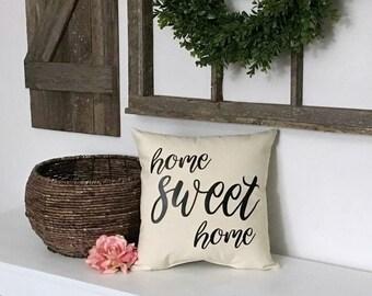 Home Sweet Home Pillow - Housewarming Gift - Home Pillow - Custom Home Pillow - New Homeowners Gift - Home Pillow Decor - Newlywed Gift
