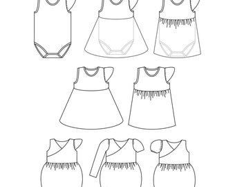 Graphing Polynomial Functions Worksheet Excel Preschool Shapetracing Worksheet Pdf Printables Definite And Indefinite Articles Worksheets Excel with American Civil War Worksheets Excel Pattern Bundle Azalea Skirted Bodysuit And Clematis Bubble Romper Pdf  Sewing Patterns Infant And Toddler Bodysuit Grade 6 Measurement Worksheets Pdf