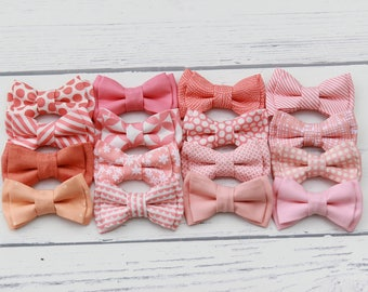 Coral Bowties, Coral Bow Ties, Coral Bowtie, Salmon Bow tie, Peach Bowtie, Bow Tie, Baby, Kids, Toddler, Boys, Adult, Wedding, Groom,