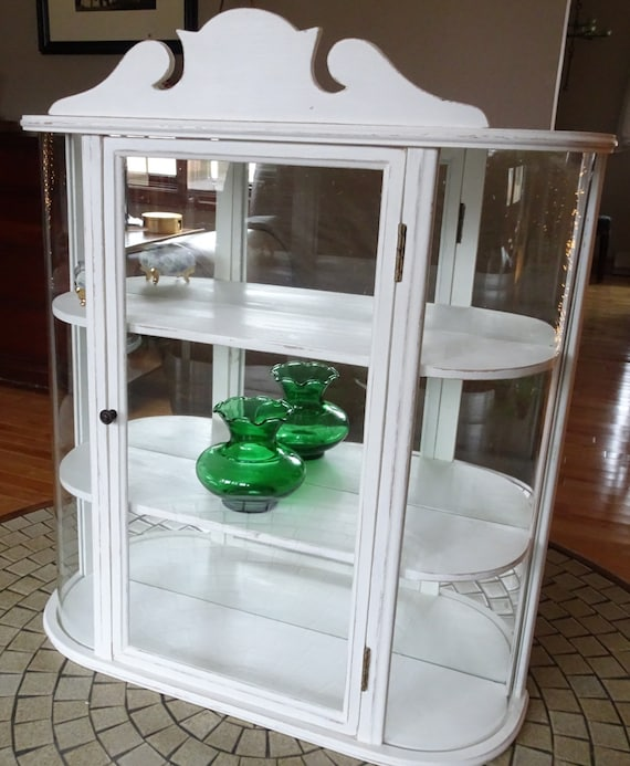 Items Similar To Vintage Repurposed Small Curio Cabinet