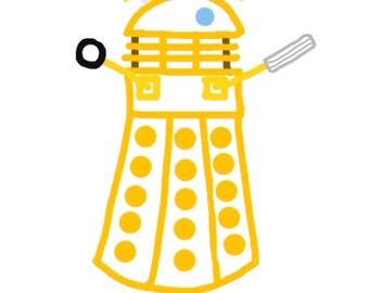 Dalek Whoodle Postcard