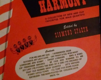 Mills New Barber Shop Harmony. A Collection of New and Old Favorites For Male Quartets. Songbook.