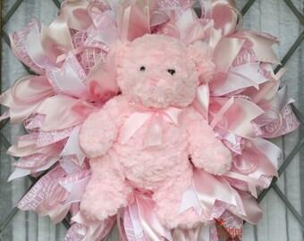 Baby Girl Wreath, It's A Girl, Baby Shower Gift, Hospital Door Hanger, Baby Shower Decor